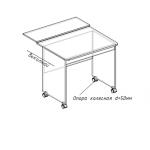 """Выкатной стол """"Орбита"""" 1 СТП-13.01"""